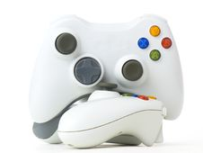 Free White Gamepads Stock Photo - 17933720