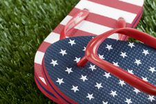 Free USA Stars And Strips Flip-flops Royalty Free Stock Image - 17933846