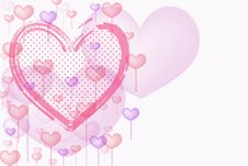 Free Abstract Valentine S Day Card With   Heart Design Stock Images - 17934774
