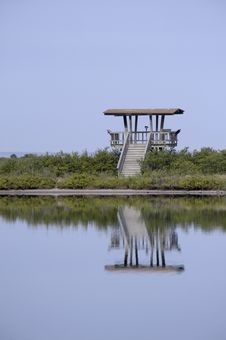 Free Wooden Observation Tower Reflecting In Water Stock Photo - 17934870