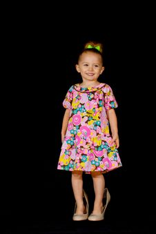 Free Big Shoes On A Little Girl Stock Image - 17934961