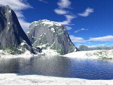 Beautiful Winter Lake Royalty Free Stock Photo
