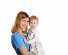 Free Young Mother Having Fun With Her Little Son Royalty Free Stock Image - 17935076
