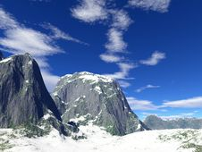 Free Winter Mountains Royalty Free Stock Photography - 17935317