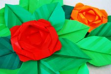 Free Paper Rose Stock Photography - 17935452