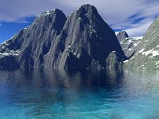 Beautiful Winter Lake Royalty Free Stock Image