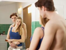 Free Young Heterosexual Couple In Bathroom Stock Images - 17936094