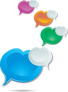 Free Colorful Speech Bubbles Royalty Free Stock Images - 17938439