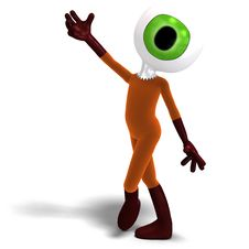 Free Funny And Cute Cartoon Guy With A Great Eye Stock Images - 17938514