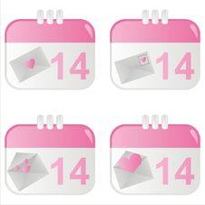 Free St. Valentine S Day Calendar Icons Stock Photo - 17939170