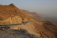 Free Road Way From Dead Sea To Judea Desert Stock Images - 17939614