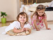 Free Two Little Sisters Together Stock Photos - 17939773