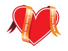 Free Heart Tag - Sale Stock Photography - 17939962