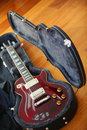 Free Electric Guitar In The Black Case Royalty Free Stock Photography - 17943157
