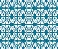 Free Antique Scroll Seamless Blue Wallpaper Royalty Free Stock Image - 17945676