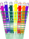 Free Holder Full Of Pens In Various Colors Stock Photo - 17945740