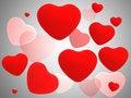 Free Red Shiny Hearts Stock Photography - 17948312