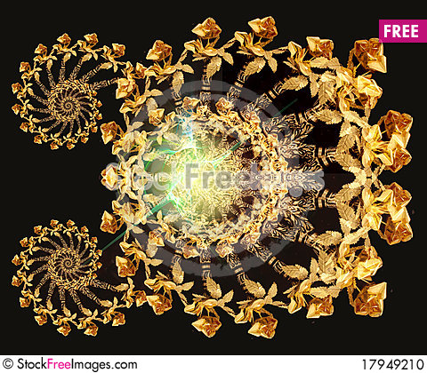 Free Gold Roses Stock Photo - 17949210