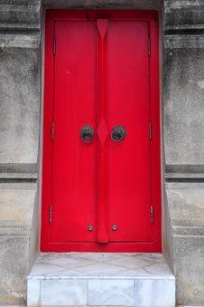 Free The Red Door Stock Photo - 17940010