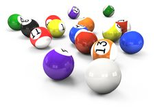 Free Billiard Balls Out Of American Billiards Stock Image - 17940231