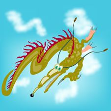 Free Fantastic Dragon In Sky Stock Photos - 17940383
