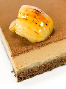 Cake Chocolate With Cream Stock Photo