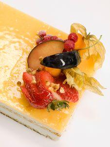 Free Cake Fruit With Cream Stock Image - 17940901