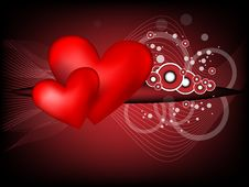 Free Heart Modern Background Royalty Free Stock Photography - 17942007