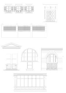Building Elements Made In CAD Royalty Free Stock Image