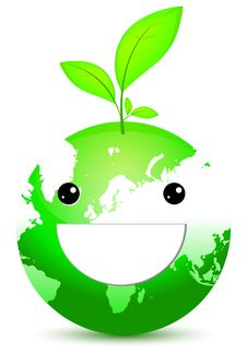 Free Green Globe With Green Leaf Stock Photography - 17942852