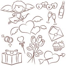 Valentine S Day Icons Royalty Free Stock Photo