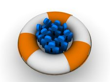 Free Life Buoy Concept Royalty Free Stock Image - 17943796