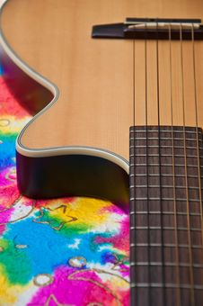Free Acoustic Guitar Classic Style Detail Royalty Free Stock Photo - 17944025