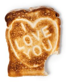 Free Bitten Toast With I Love You Message Royalty Free Stock Image - 17944656
