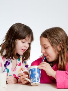 Hot Chocolate Girl Time 2 Stock Images