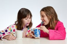 Hot Chocolate Girl Time III Royalty Free Stock Images