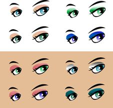 Free Woman Eye On White Background Modern Style Royalty Free Stock Images - 17945489