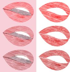 Free Collection Colorful Female Lips And White Teeth Royalty Free Stock Photography - 17945617