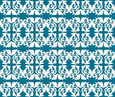Antique Scroll Seamless Blue Wallpaper Royalty Free Stock Image