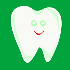 Free Winking Happy Smiling Health Tooth Isolated In Whi Stock Images - 17945724