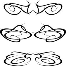 Tribal Art Tattoo Design Elements Artworks Isolate Royalty Free Stock Photography