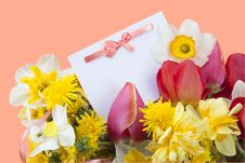 Free Postcard And Flowers Royalty Free Stock Images - 17945939