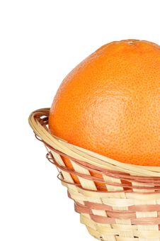 Free Grapefruit In The Basket Royalty Free Stock Photography - 17946337