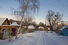 Winter Day In The Countryside Royalty Free Stock Photos