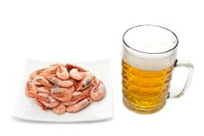 Free Beer And Prawns Royalty Free Stock Photography - 17946887
