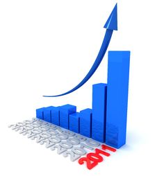 Free Graph For 2011 Stock Photo - 17947000