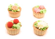 Four Little Cakes Royalty Free Stock Photography