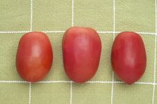 Free Trio Of Roma Tomatoes Royalty Free Stock Images - 17947219