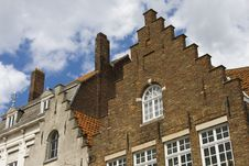 Flemish Houses Facades In Brugge. Royalty Free Stock Image