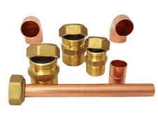 Free Installation Fittings Made Of Brass Royalty Free Stock Photography - 17947347